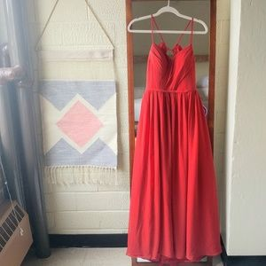 Azazie Cora Bridesmaid Dress in Rust Size 8